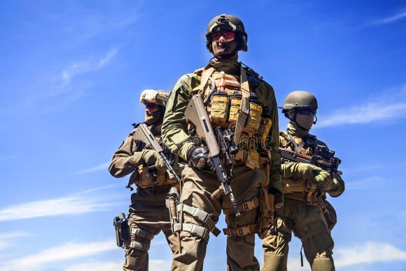 Силы специального назначения солдат Jagdkommando стоковое фото rf