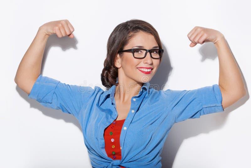 Сильная женщина. стоковое изображение rf