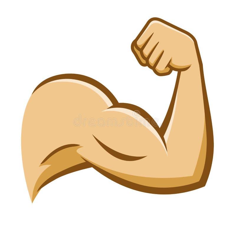 Сильная рука мышцы иллюстрация вектора