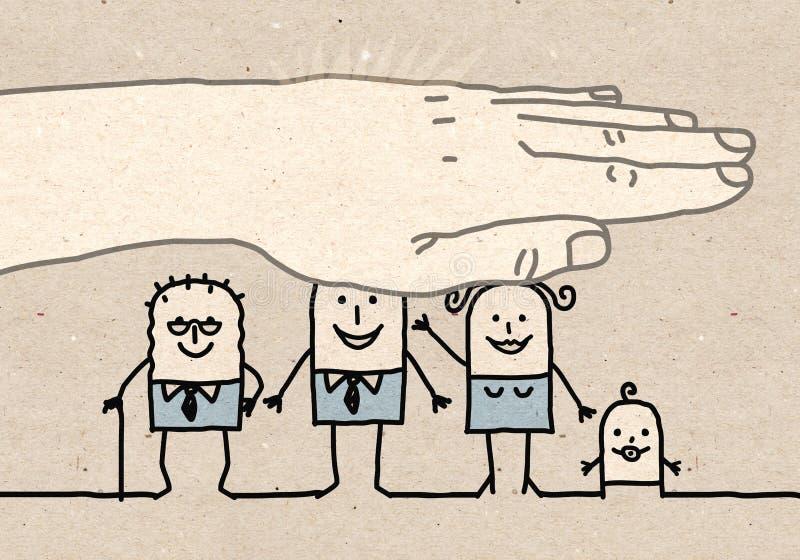 Сильная рука - страхование жизни бесплатная иллюстрация