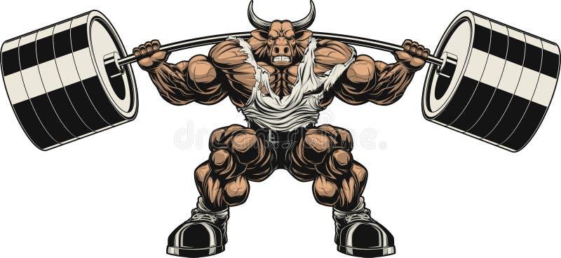 Сильный бык иллюстрация штока