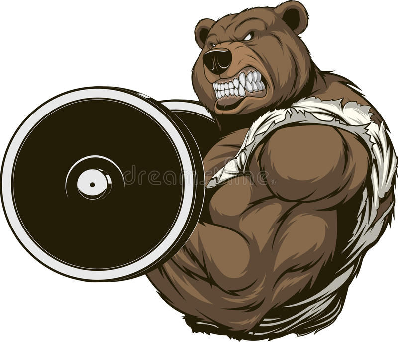 Сильный свирепый медведь иллюстрация штока
