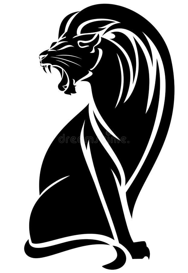 Сидя лев бесплатная иллюстрация