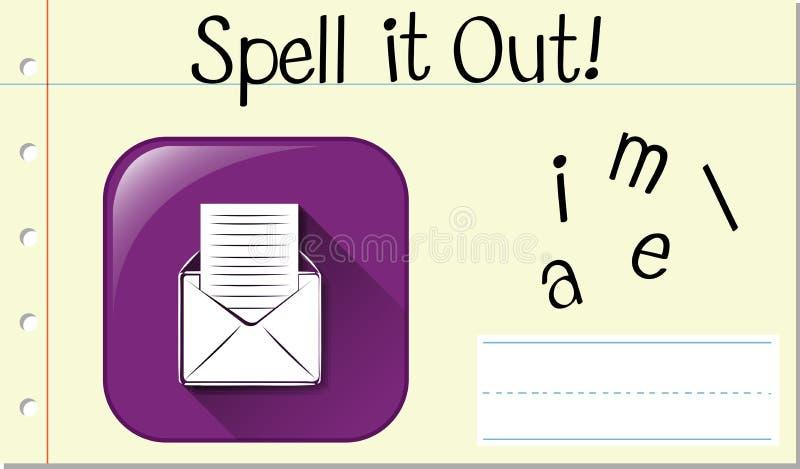 Скажите английскую электронную почту по буквам слова бесплатная иллюстрация