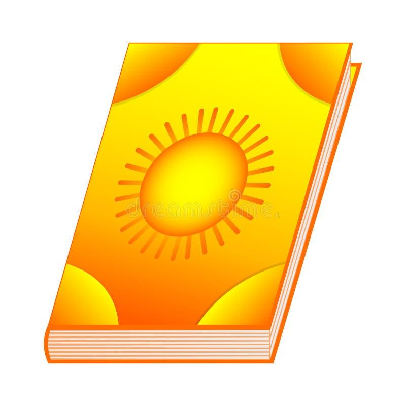 Скажите книгу по буквам элементов солнца для вашего дизайна, игры, карточки Старая книга с рецептами алхимии и произношениями по  иллюстрация вектора