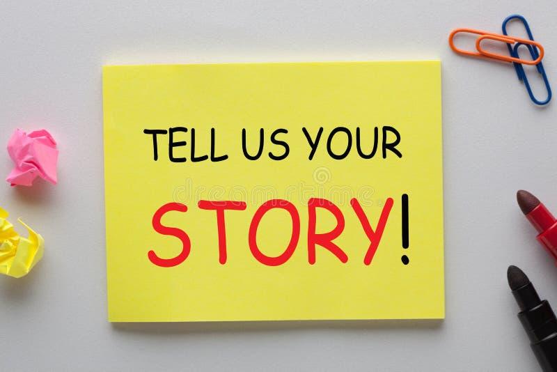 Скажите нам ваш рассказ стоковое изображение rf