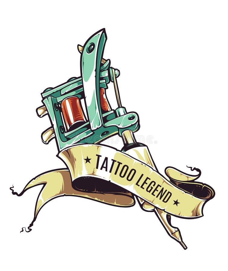 Сказание татуировки иллюстрация штока