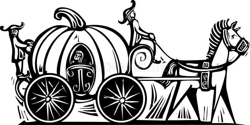 Экипаж Cinderellas иллюстрация штока