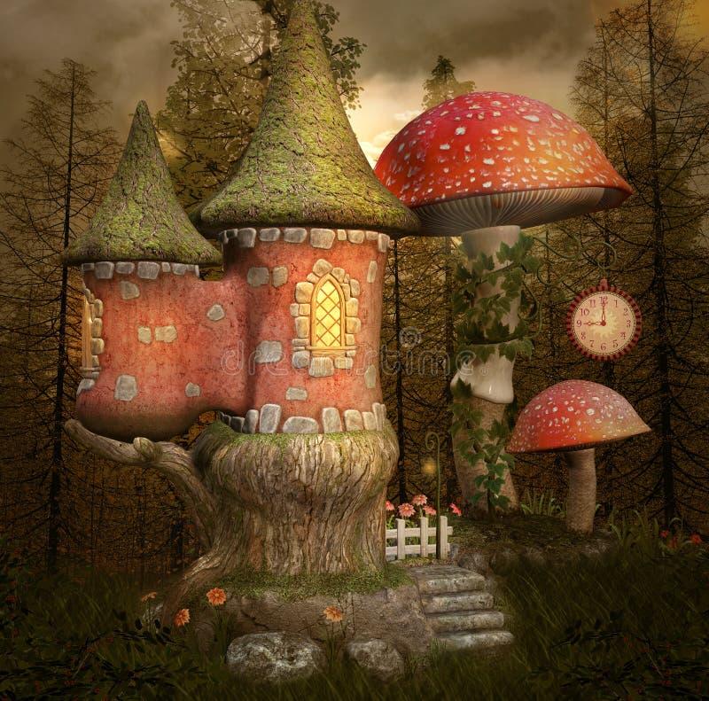 Сказка меньший замок бесплатная иллюстрация