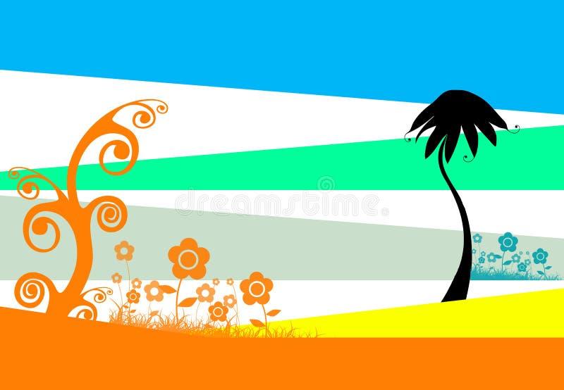сказовая флористическая иллюстрация иллюстрация вектора