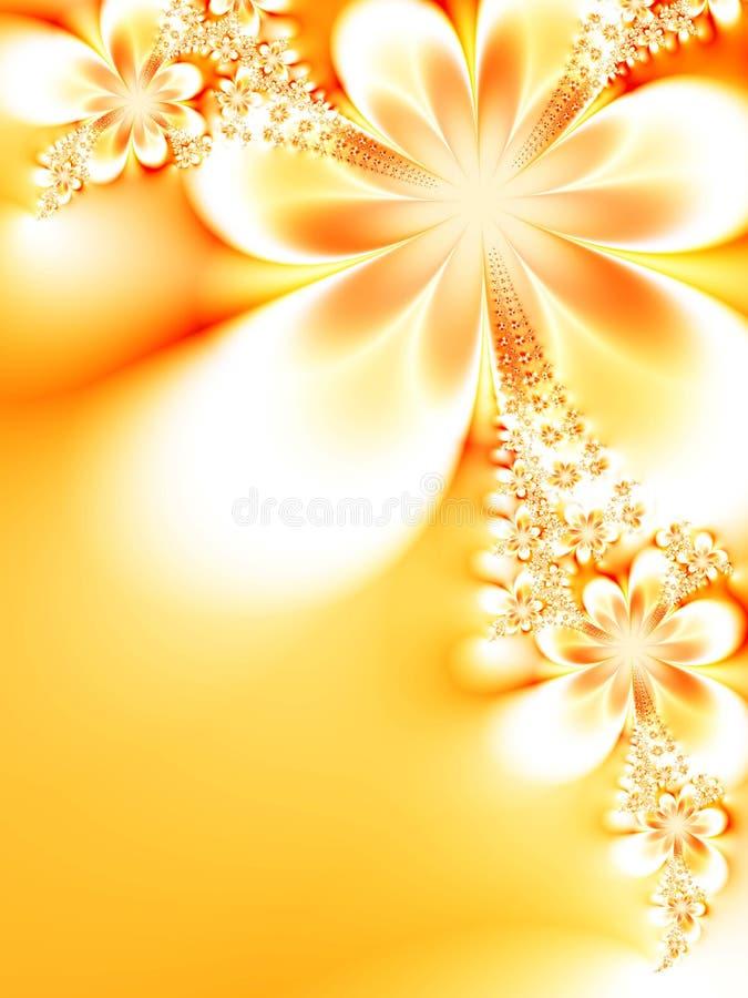 сказочные цветки иллюстрация вектора