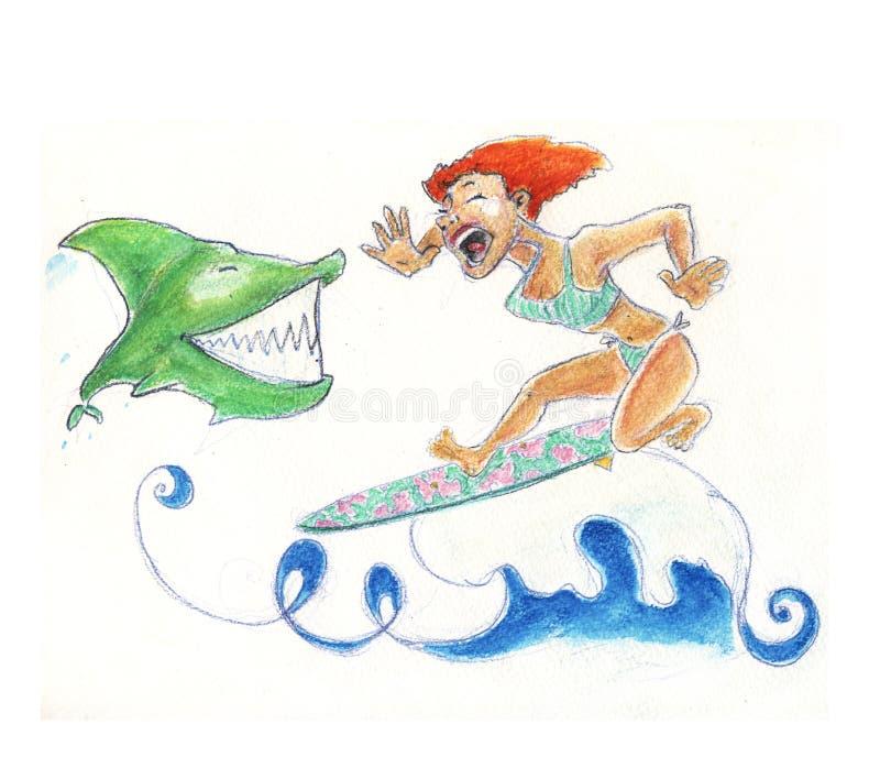 сказ акулы иллюстрация штока