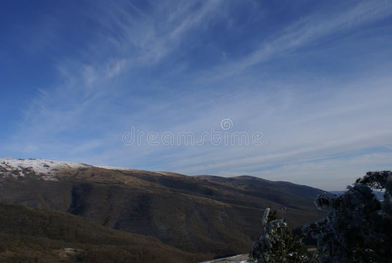 Сказ зимы горы в Gelendzhik стоковое изображение