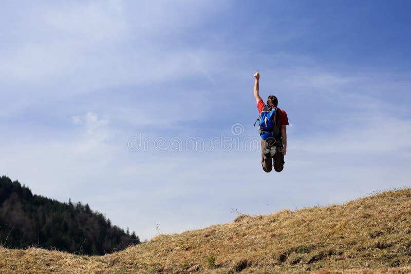 Скакать в воздух стоковое фото rf