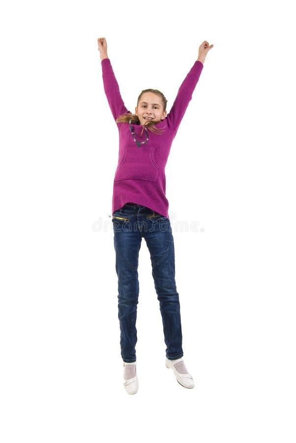 скакать девушки радостный немного стоковое изображение rf