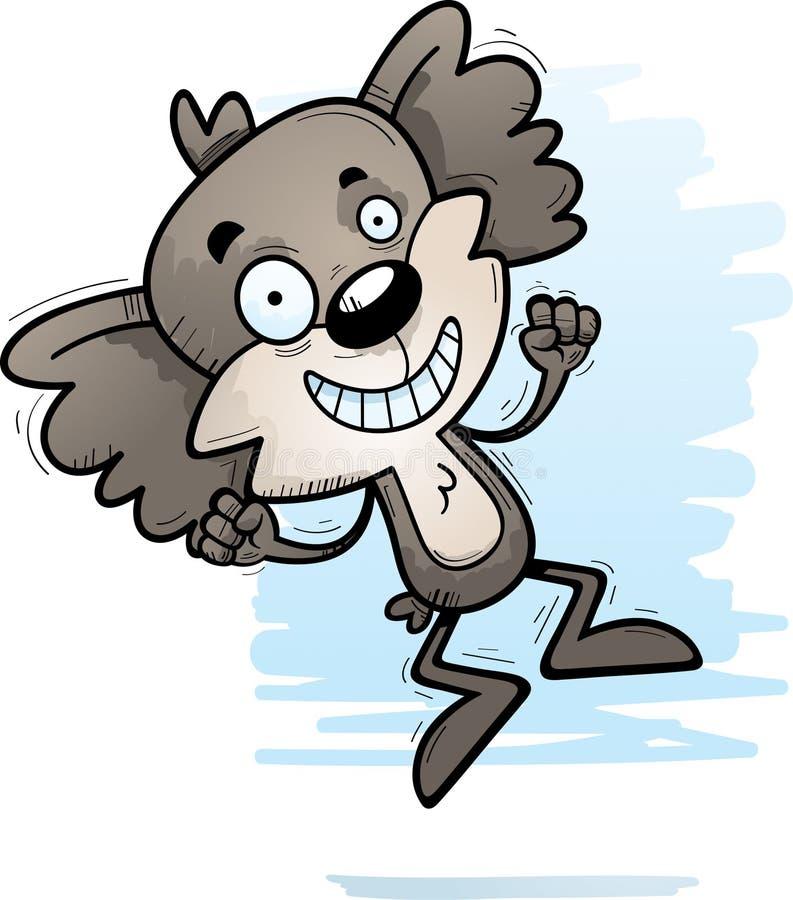 Скакать коалы шаржа мужской иллюстрация штока