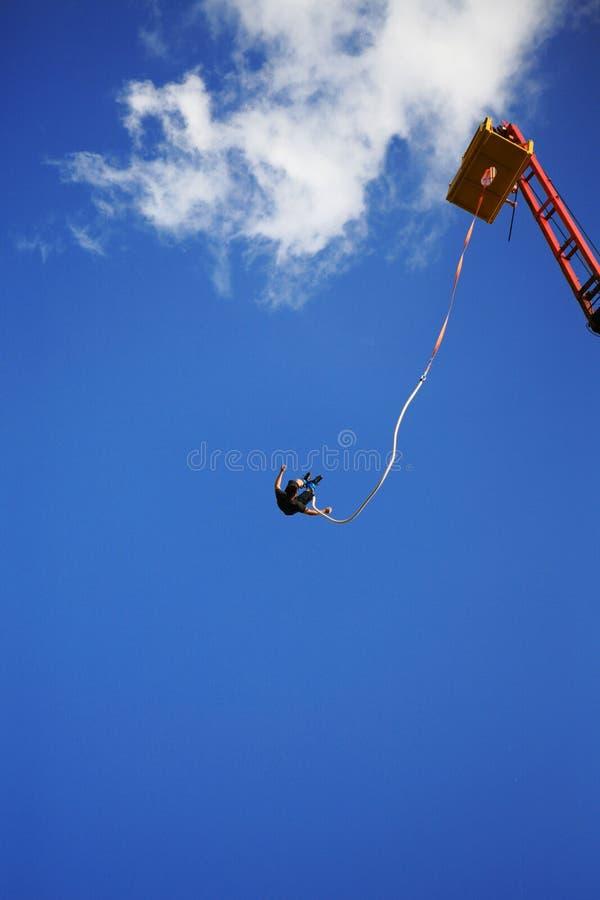 скакать крана bungee стоковая фотография rf