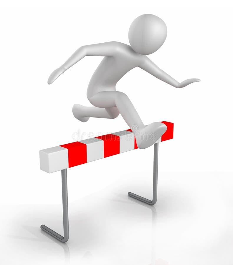 Скакать над препятствием барьера бесплатная иллюстрация