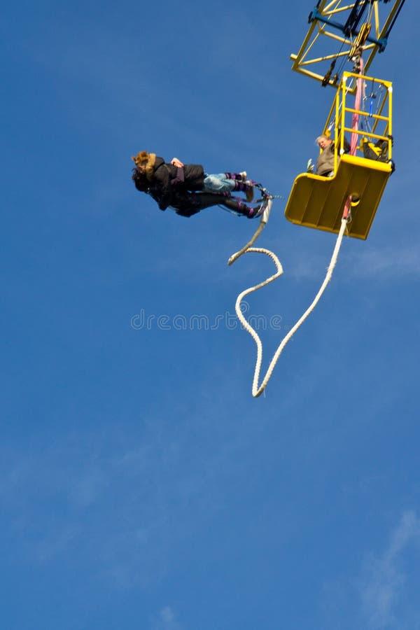 скакать пар bungee стоковое фото rf