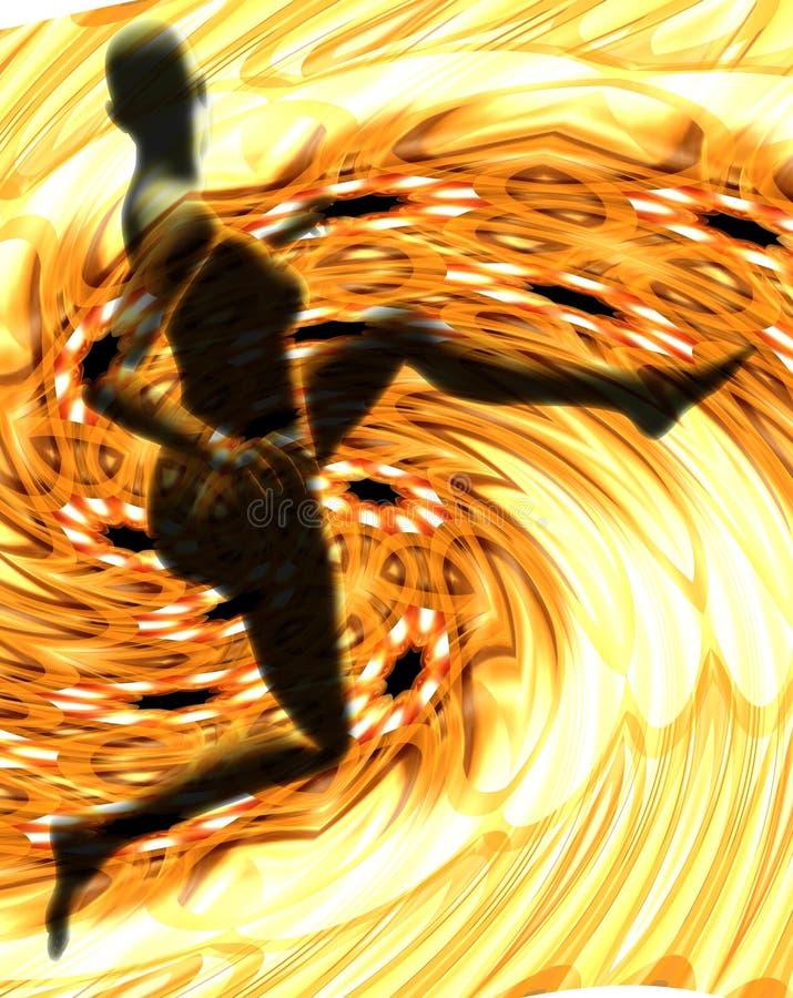 скакать пламен стоковые изображения rf