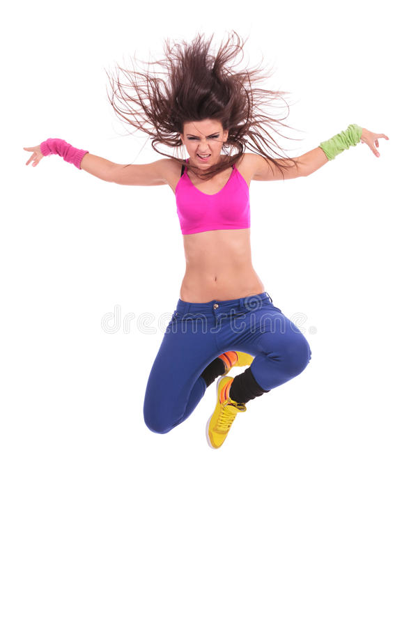 Скакать танцора женщины стоковые изображения rf