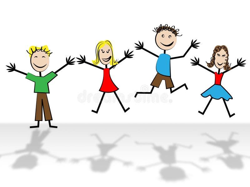 Скакать ягнится ребенок молодости выставок и отражается бесплатная иллюстрация