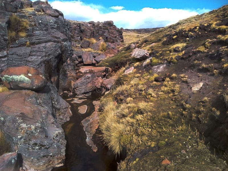 Скала Анды Перу стоковое изображение rf