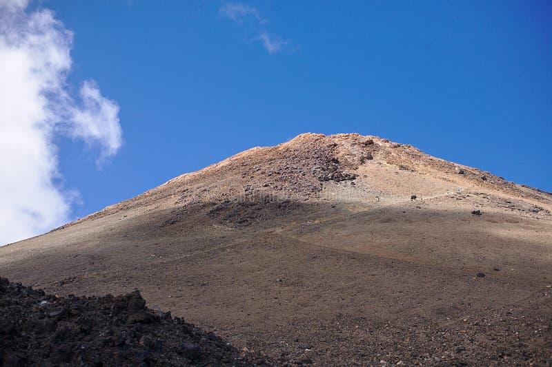 Скала в национальном парке, в горах, ландшафт с заводами, текстура, Тенерифе стоковая фотография