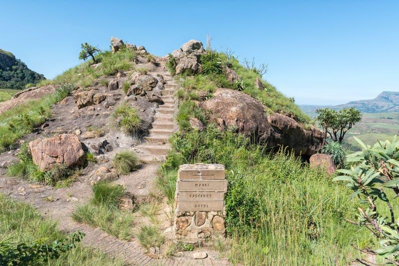 Скала-лукаут в Национальном парке Рояль-Натал стоковые изображения