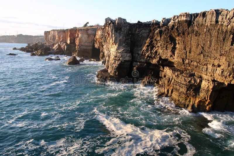 скала Португалия cascais стоковое фото
