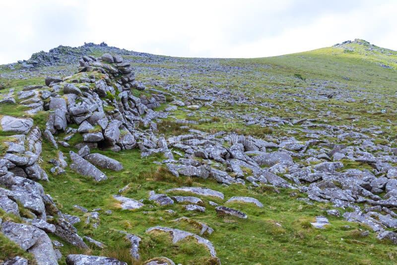 Скалистая вершина Belstone на Dartmoor стоковое фото