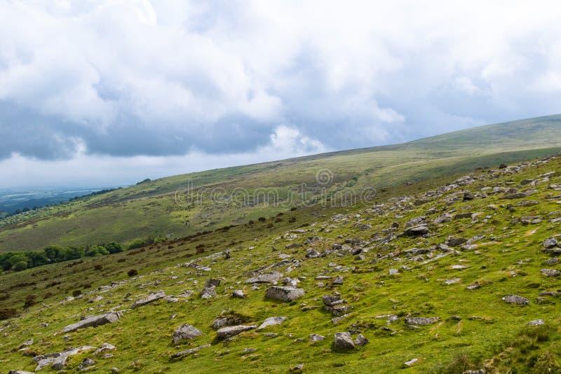 Скалистая вершина Belstone на Dartmoor стоковое фото rf