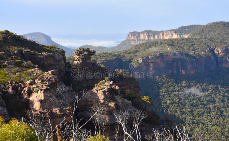 Скалистая скала известная как хряки возглавляет стоковые фотографии rf