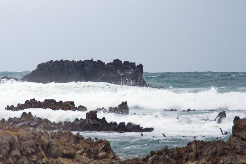 Скалистый островок с Kleinbaai стоковые изображения rf