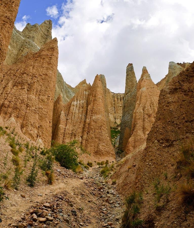 скалы глины стоковые фото