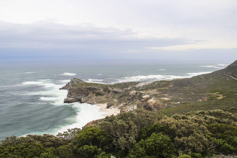 Скалы накидкой хорошей надежды около Кейптауна, Южной Африки стоковая фотография rf
