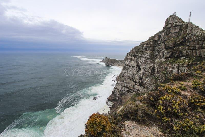 Скалы накидкой хорошей надежды около Кейптауна, Южной Африки стоковая фотография