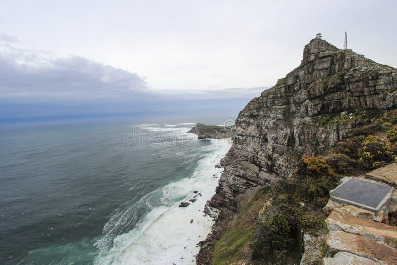 Скалы накидкой хорошей надежды около Кейптауна, Южной Африки стоковые фотографии rf