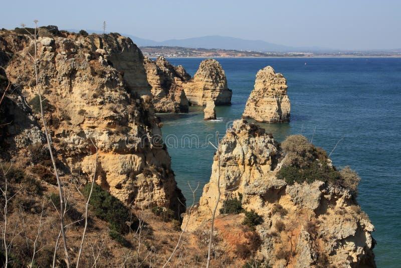скалы lagos стоковое фото