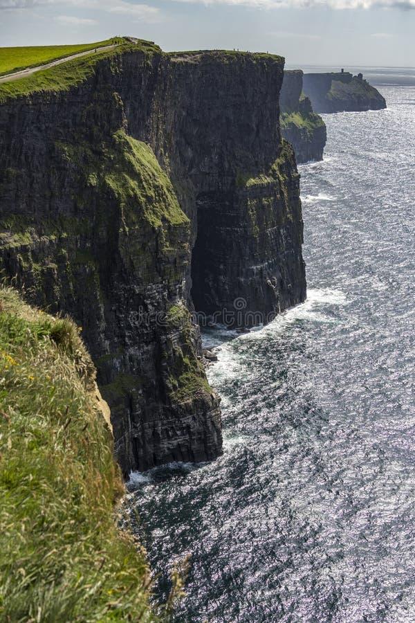 Скалы Moher - графство Клара - Ирландия стоковая фотография rf