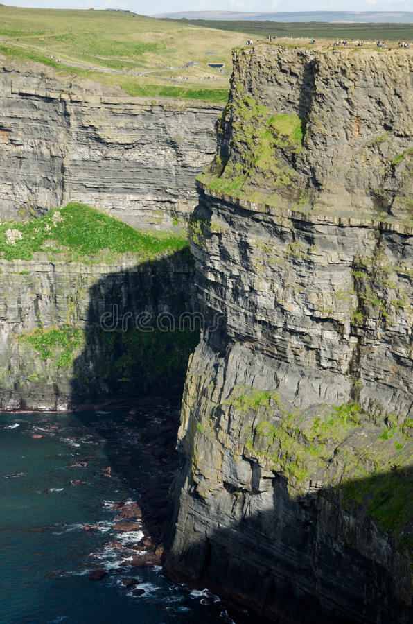 Скалы moher стоковое изображение