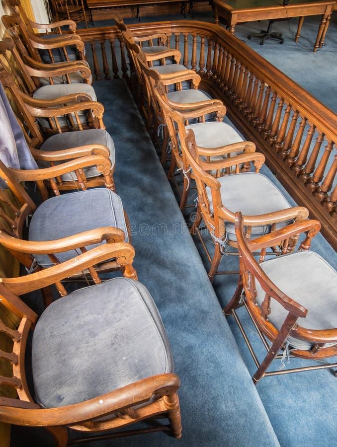 Скамья присяжных стоковая фотография rf