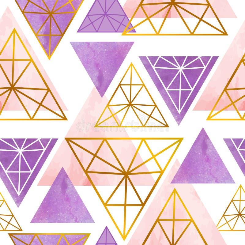Скандинавская безшовная картина с треугольником цвета иллюстрация штока