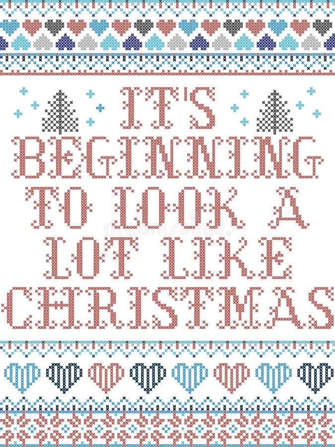 Скандинавский рождественский рисунок, вдохновленный его началом, очень похожий на рождественские повседневные праздничные элемент иллюстрация вектора