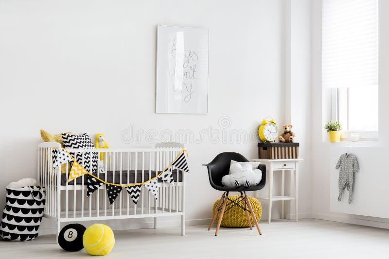 Скандинавская воодушевленность для комнаты младенца стоковое фото