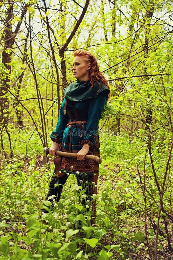 Скандинавская женщина redhead стоковое изображение