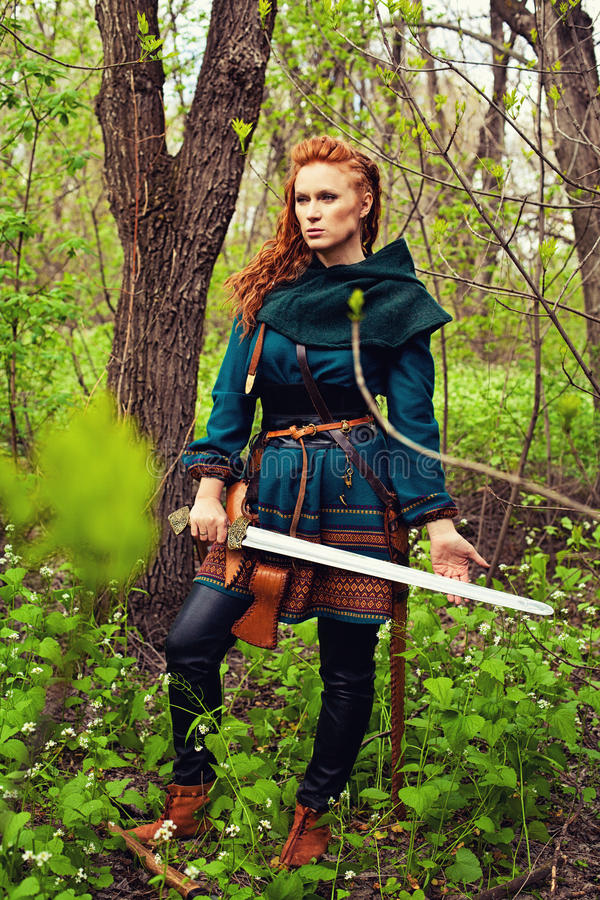 Скандинавская храбрая женщина стоковое фото