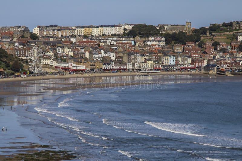 Скарборо на побережье Северного Йоркшира - Великобритания стоковое изображение rf
