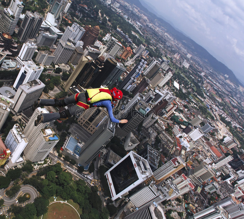 скача башня skydiver kl стоковое изображение rf