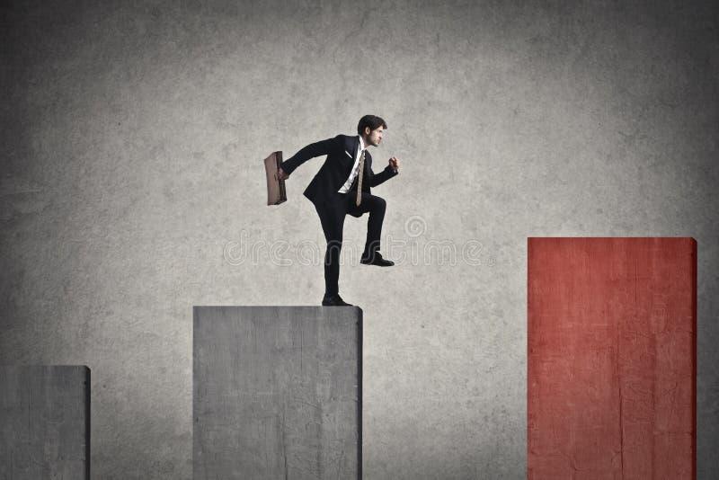 Скача бизнесмен стоковое изображение rf